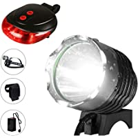 okaccessories Bicycle Light, Bike Light Set Rechargeable Headlights Mountain 1200 Lumens Super Bright Waterproof Safety…
