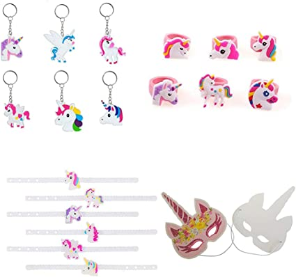 Amazon.com: Paquete de 48 unicornios suministros de fiesta ...
