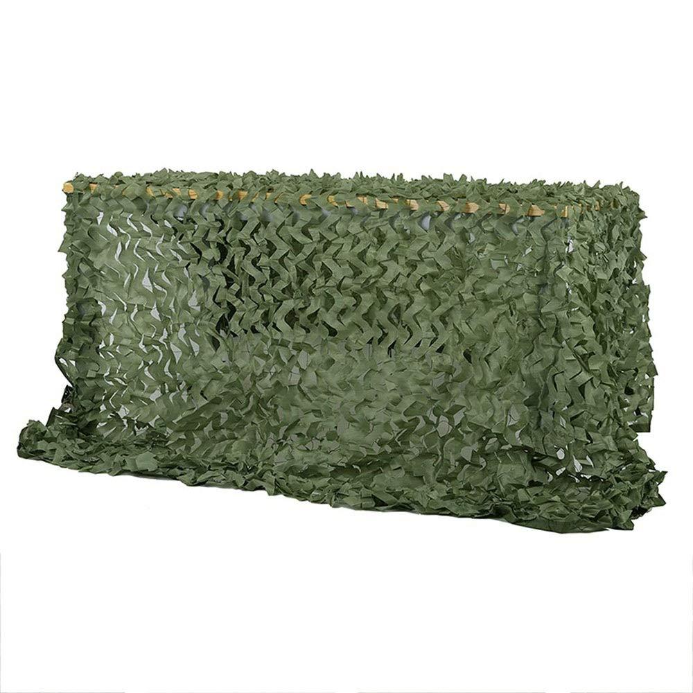 8x8M Filet d'ombrage QINGJIU Filet Vert de Camouflage, Couverture de Camo de Tissu d'Oxford pour Le Camping prougeégeant l'armée écran Solaire ombrage décoration Nette (Taille   3x6M)