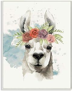Stupell Industries Watercolor Llama Del Rey Wall Plaque, 10 x 15, Design By Artist Grace Popp