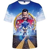 Silver Basic Camiseta Deportiva para Niños 3D Inspirada en la Popular Película y Videojuego Sonic The Hedgehog Summer T…