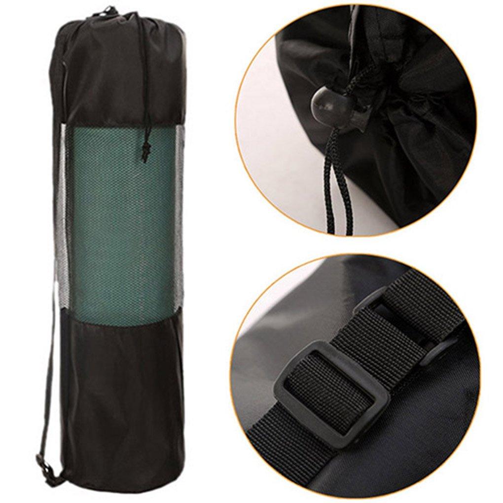 Gemini _ Mall® Tasche für Yoga-Matte, schwarze Tasche mit Nylon-Netzgeweben und verstellbarem Riemen für Pilates/Yoga Matte, waschbar. Gemini_mal