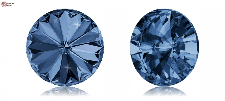 Cristales de Swarovski 38213 Piedras Redondas 1122 SS 39 Montana F, 144 Piezas
