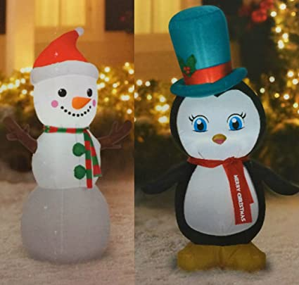 Amazon Com Snowman And Penguin Inflatables Christmas