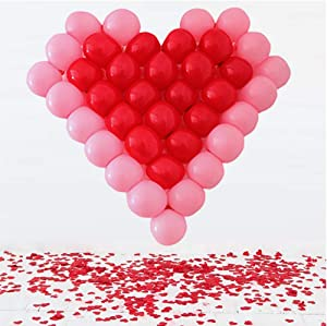 Crazymore® 38 Grid - Heart Shape Balloons Plastic Grid Frame with Latex Balloons for Weddings, Birthday Party Decoation