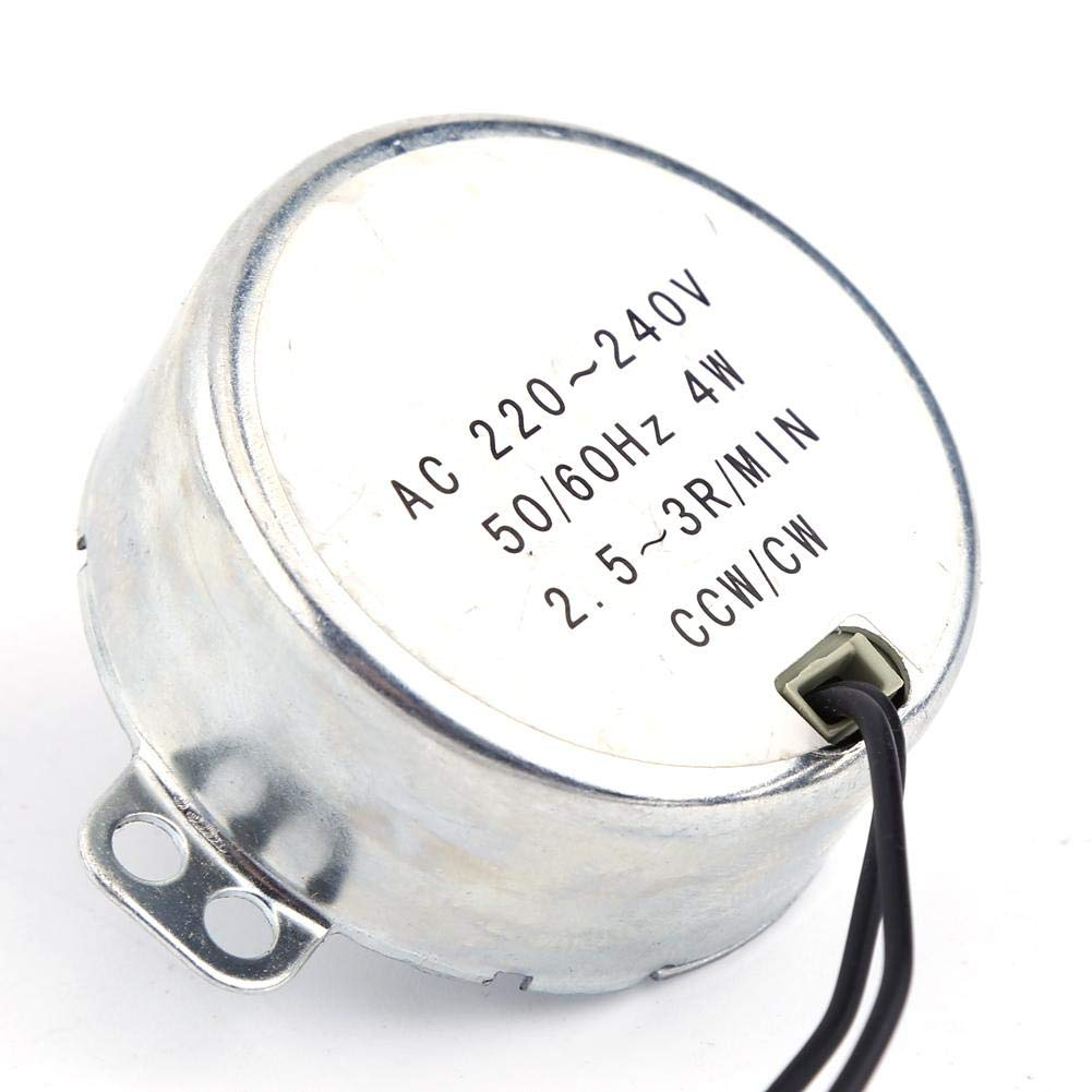 Synchronous Motor Synchronous Motor Geared Motor Low Consumption and Low Noise AC 220-240V Fan CCW//CW Electric Synchron Synchronous Motor 2.5-3RPM