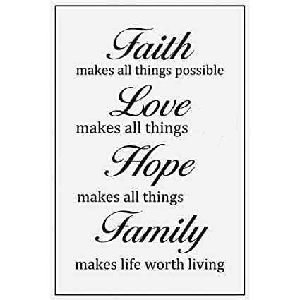Amazon Motivational Posters Prints Wall Art Decor Faith Love Gorgeous Faith Love Hope Quotes