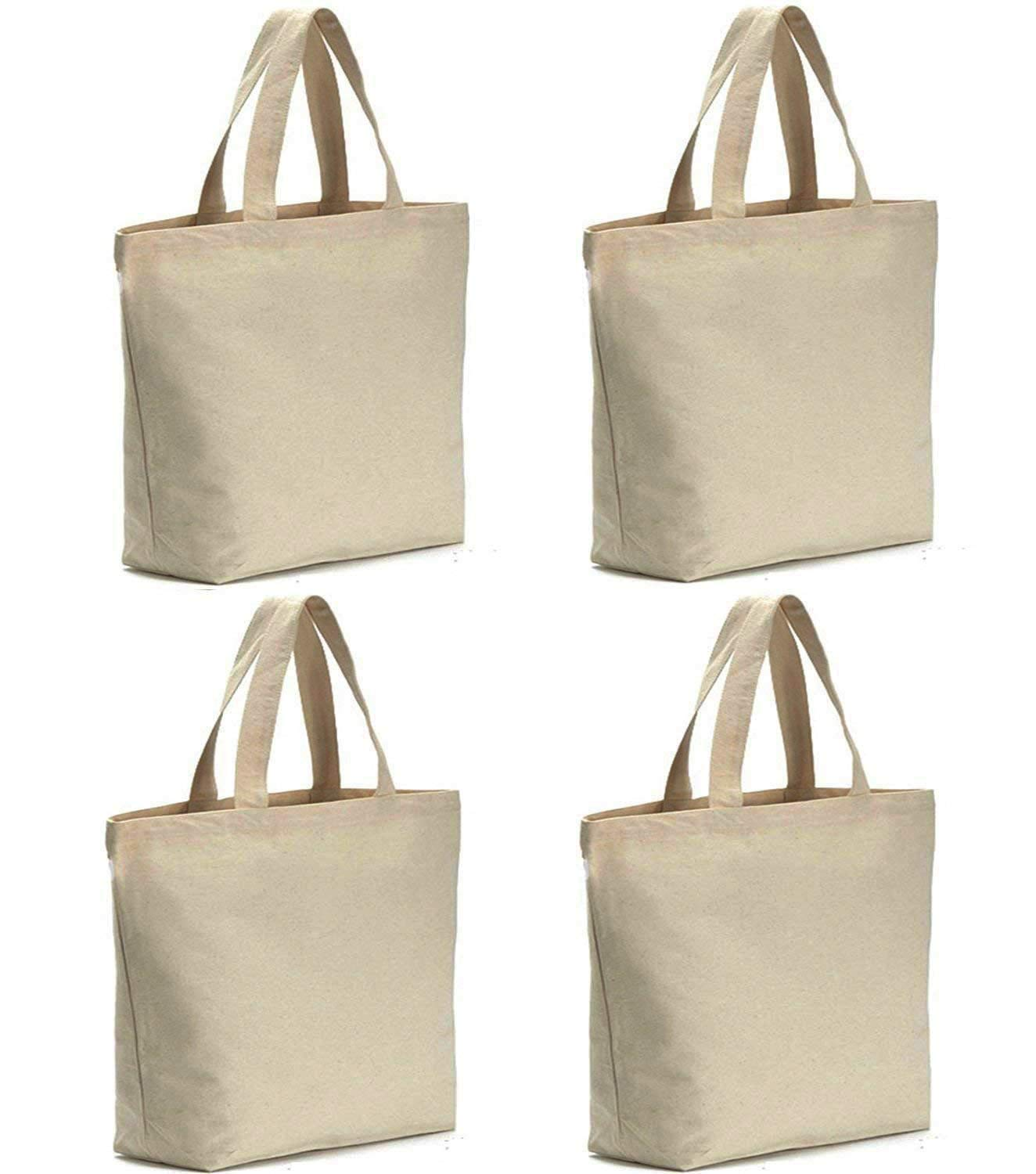 Axe Sickle 4PCS Canvas Tote Bag Bottom Gusset 16 X 16 X 4.6 inch Heavy 12oz Tote Shopping Bag, Washable Grocery Tote Bag, Craft Canvas Bag With ...