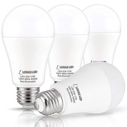 LOHAS LED Bulb 100 150W Equivalent(UL Listed), LED Light Bulbs Daylight
