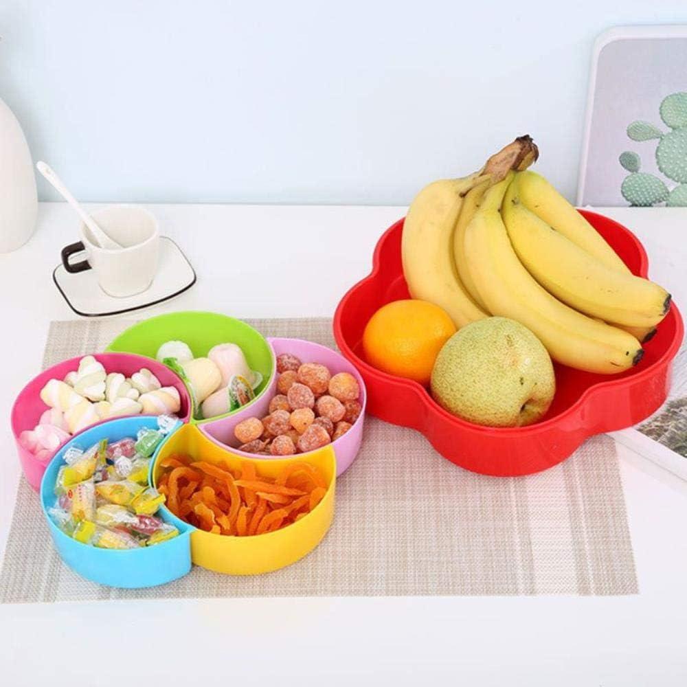 Obstteller Geteilt Mit Deckel Pralinenschachtel Trockenobst Snackteller Obst Wohnzimmerteller 27,2 X 6Cm Pink