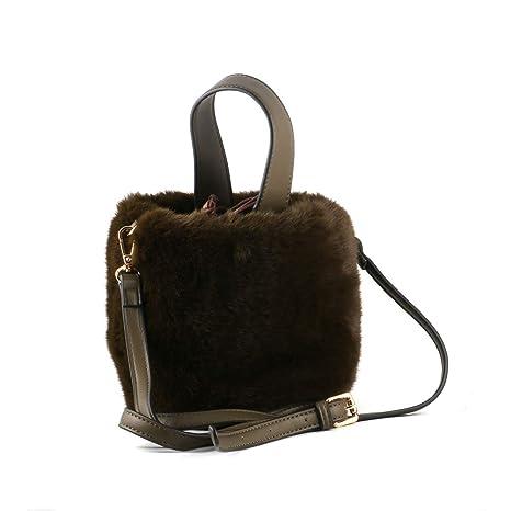 6702ff35c4 Amazon.com  Women s Fluffy Shaggy Faux Fur Bucket Crossbody Bag Handbag  Drawstring Fur Bag Shoulder Tote Bag for Women Ladies Girls  Computers    Accessories
