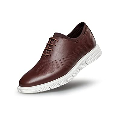 ZRO Mens Lace-Up Casual Fashion Sneakers Breathable Athletic Sports Shoes Brown US 6.5