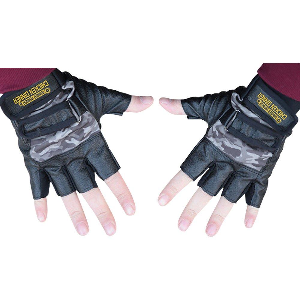 Winner Winner Chicken Dinner Waist Bag Pan Warrior Shirt PU Coat Cosplay Costume Accessories Long Jacket (Free Size, Gloves)