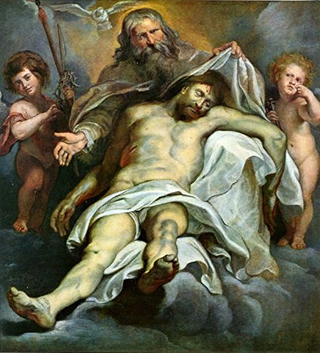Cutler Miles Holy Trinity by Peter Paul Rubens Hand Painted Oil on Canvas Reproduction Wall Art. 27x30 by Cutler Miles