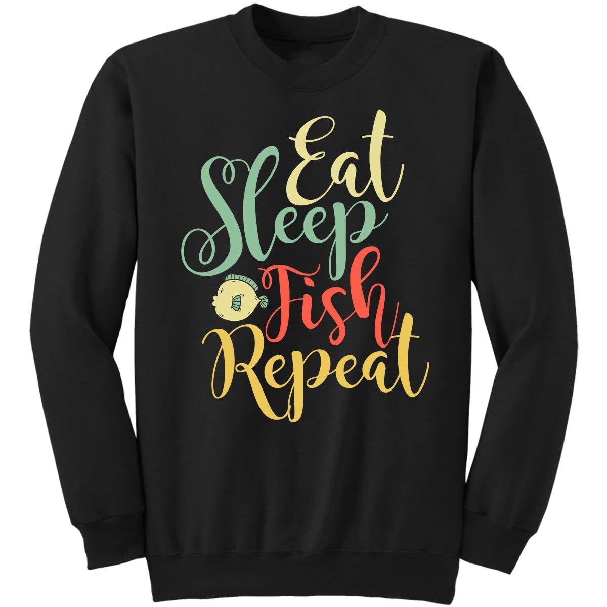 DoozyGifts99 Eat Sleep Fish Repeat-Fishing Men Women Sweatshirt