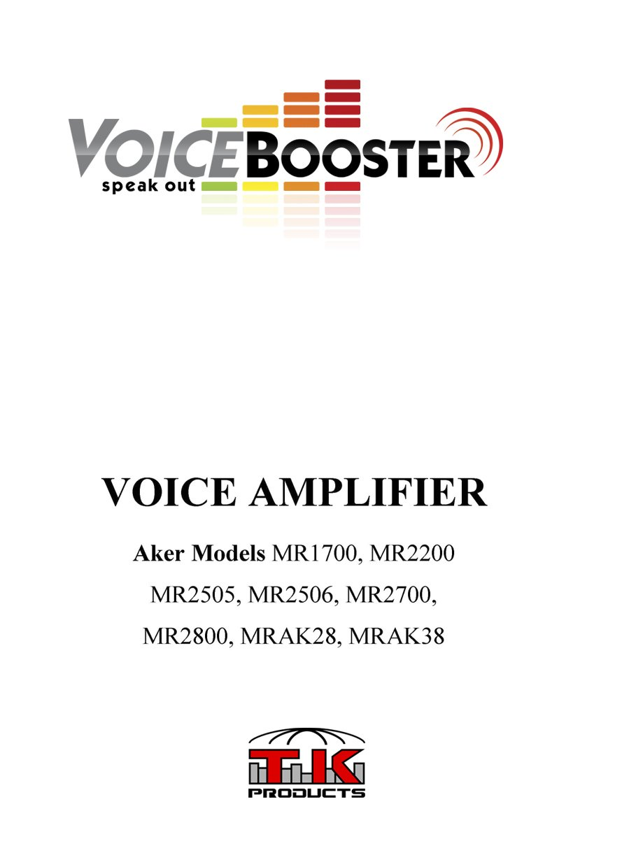 VoiceBooster Voice Amplifier & Mp3 Player 12watts Black MR1700 (Aker) by TK Products,Portable, for Teachers, Coaches, Tour Guides, Presentations, Costumes, Etc.