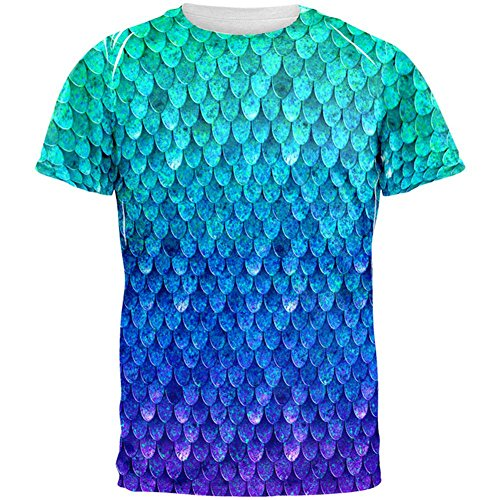 Old Glory Halloween Mermaid Scales Costume All Over Mens T Shirt
