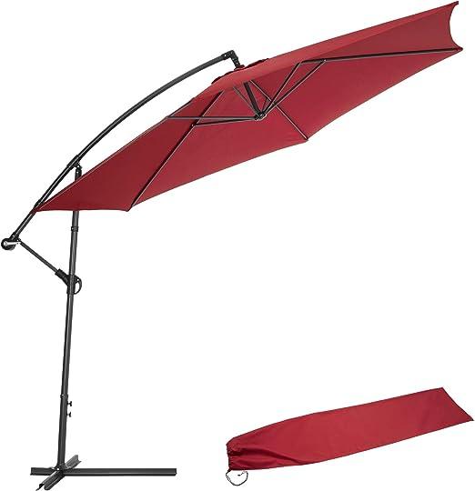TecTake 3,5m Sombrilla parasol de aluminio para terraza jardín ...