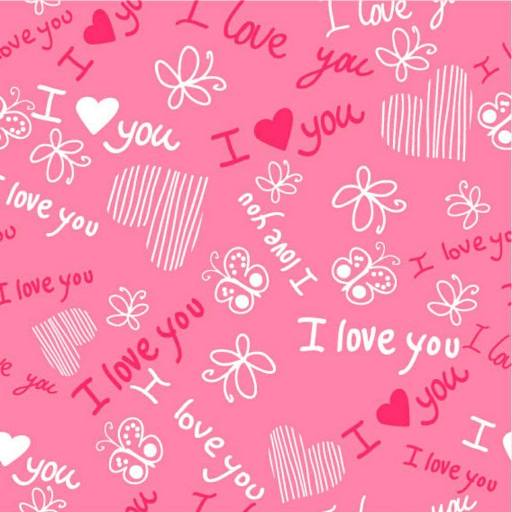 GoHeBe 10X10FT Seamless Valentines Day Theme Pictorial Cloth Customized Photography Backdrop Background Studio Prop VDD060C