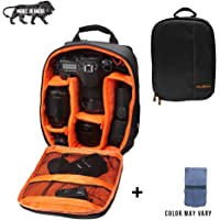 Brain Freezer DSLR/SLR Camera Lens Shoulder Backpack Case for Canon Nikon Sigma Olympus Camera (Orange)