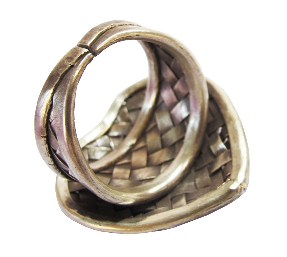 Beautiful Ring Size No ADJUSTABLE 8-10 By Handmade ThaiJewelry Karean Ring*Karean Silver Ring Approx.11.02 G