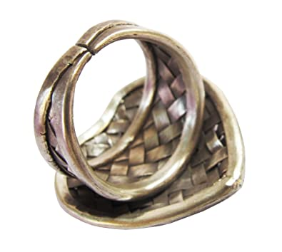Beautiful Ring Size No ADJUSTABLE 8-10 By Handmade ThaiJewelry Karean RingKarean Silver Ring Approx.11.02 G