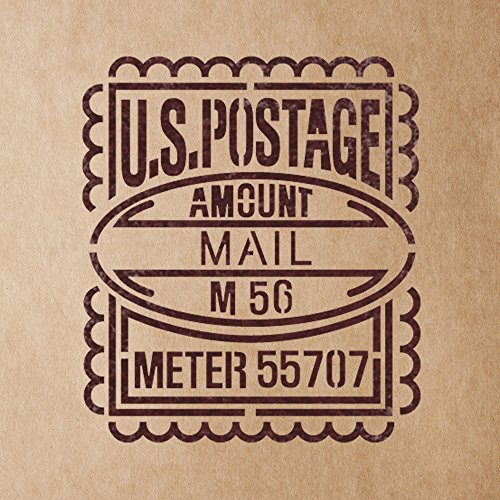 Damask Postage - J BOUTIQUE STENCILS US Postage Mail Stamp Stencils for Crafting Canvas DIY Wall decor