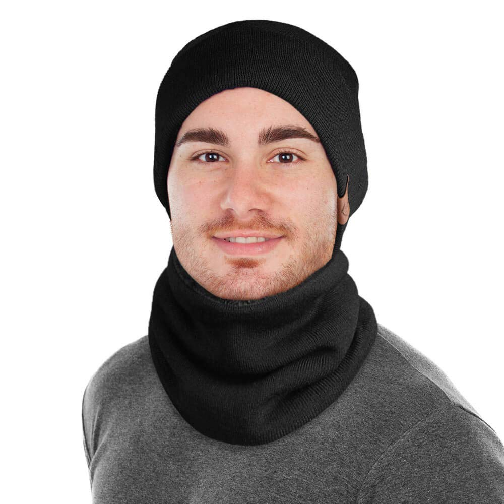 OZERO Winter Daily Beanie Stocking Hat and Thermal Neck Warmer Men and  Women CAHF-0001 4d1dae93f25