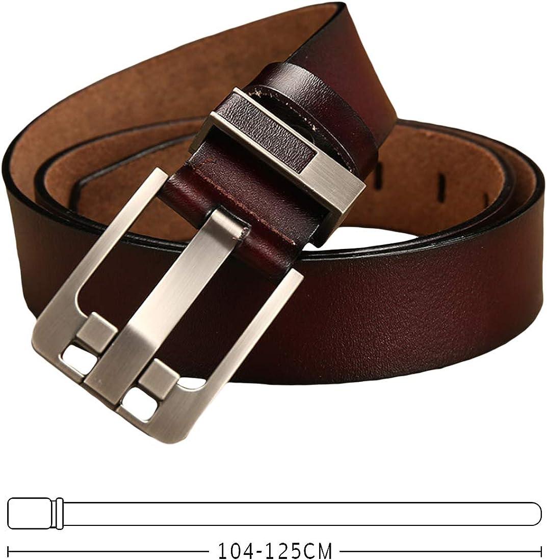 Huicai Men leather belt waist belt retro adjustable man trousers belt