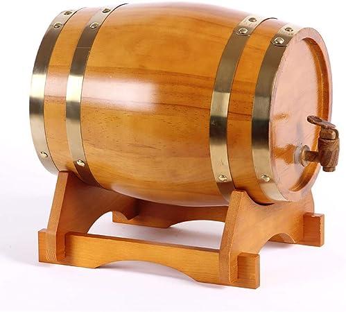 Opinión sobre SS mutong Barril de Roble Dispensador de Whisky Estilo de Barril de Roble de Madera for Almacenar Vino, Brandy, Whisky, Tequila Vino, Cerveza, Sidra, Whisky. (Color : E, Size : 3L)