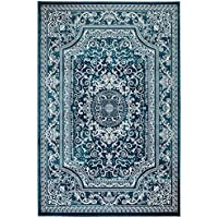 NEW Summit Elite S62 Blue and White rug Antique Style Tone (22 inch x 35 inch SCATTER RUG DOOR MAT SIZE)