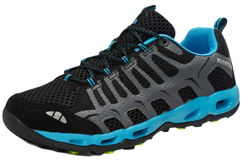 Insun Herren Wanderschuhe Trekking Schuhe Wasserabweisende und Atmungsaktive Walkingschuhe mit Anti Rutsch Sohle