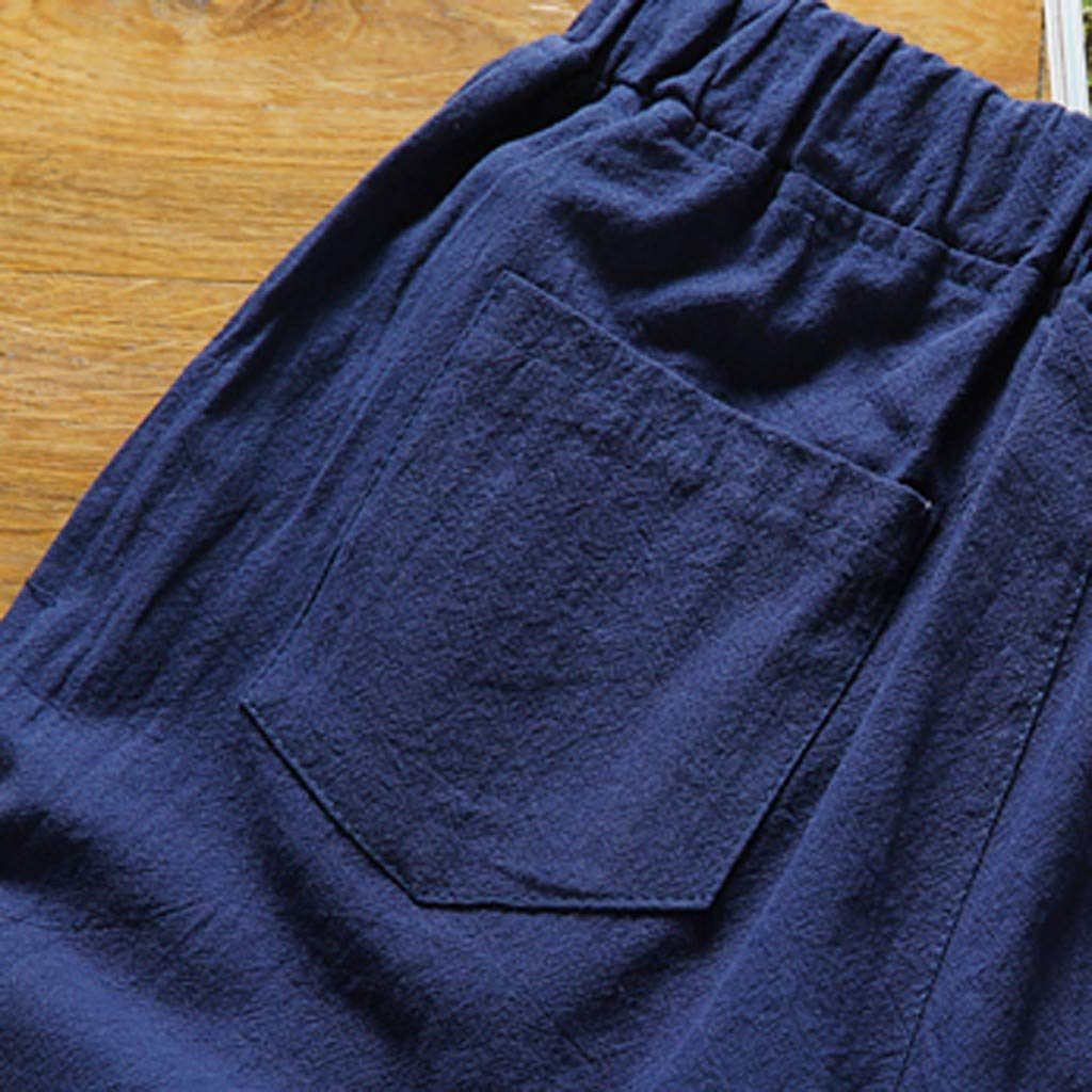 Mijaution Mens Print Shorts Wild Fashion Cotton Shorts Tie Shorts Loose Performance Shorts Tennis Shorts
