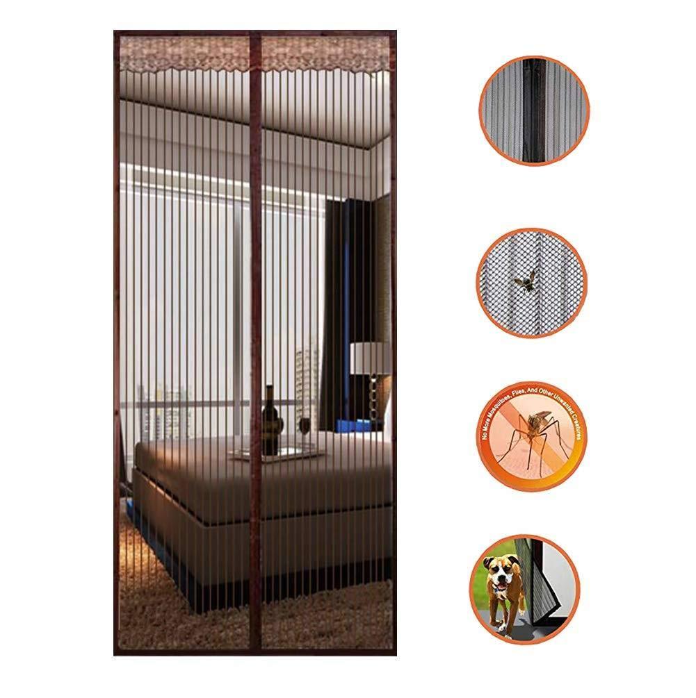 Bianco 100x250cm Zanzariera Magnetica Rete di Ottima qualit/à per Porte di Soggiorno Camera da Letto Casa Zanzariera Magnetica 39x98inch