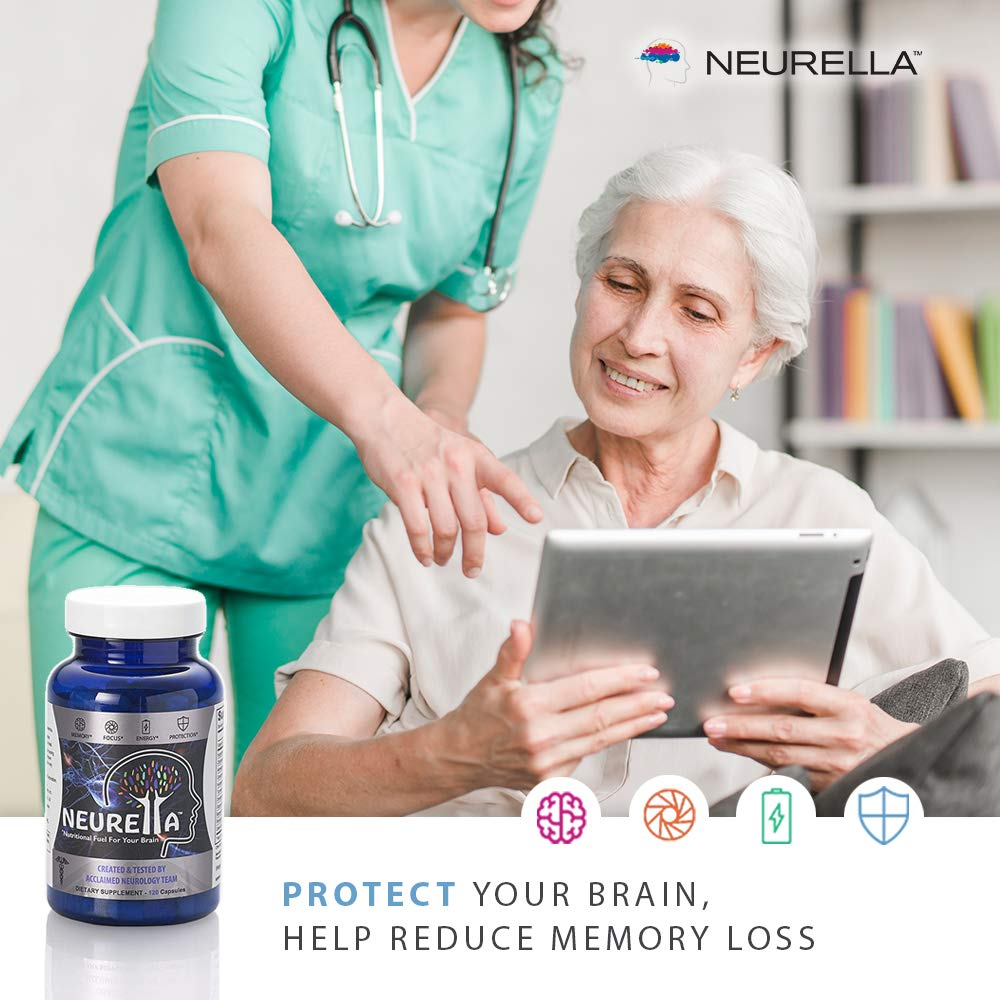 2X Neurella Extra Strength Brain Supplement – Powerful Brain Food & Memory Booster. Improve Focus, Clarity & Energy. Mental Performance Nootropic – Reduce Memory Loss & Brain Fog.