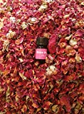 bMAKER Rose Buds & Petals with 5/8 Dram Essential oil, 1 Lb, Red