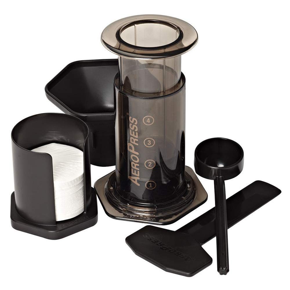 AeroPress Coffee and Espresso Maker - Makes 1-3 Cups of Delicious Coffee without Bitterness per Press by AeroPress
