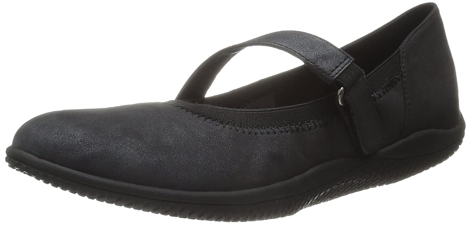 SoftWalk Women's Hollis Flat B00S01N0E4 7 XW US|Black Nubuck