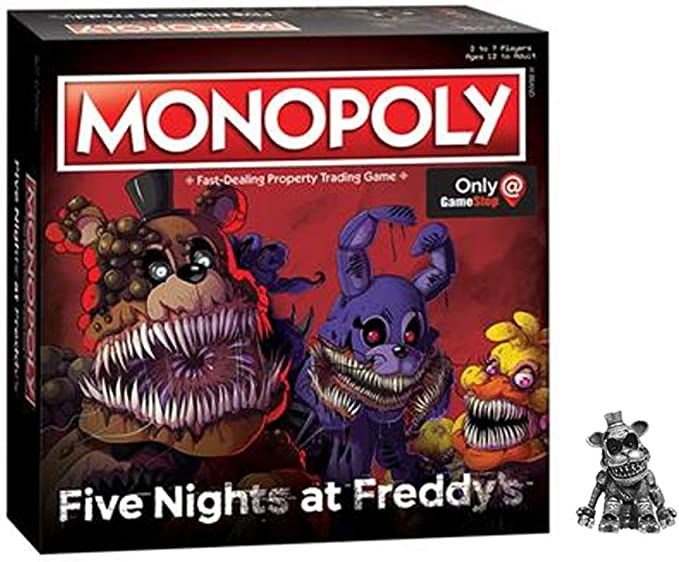 Monopoly: Five Nights at FreddyS (Square Box Edition with Exclusive Nightmare Freddy Token): Amazon.es: Juguetes y juegos