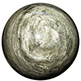 Obsidian Ball Gold 31 Mesmerizing Sparkle Sheen Crystal Negative Energy Eliminator Sphere 3.8''