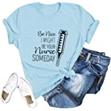 Womens T-Shirt Casual Cotton Tee O-Neck Graphic T-Shirt Funny Letter Saying Tops