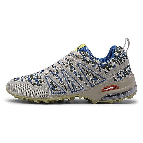 Zapatillas de Senderismo para Hombres Zapatillas de Deporte Antideslizantes de Viaje al Aire Libre Zapatillas de Escalada con Escote bajo Zapatillas de ...