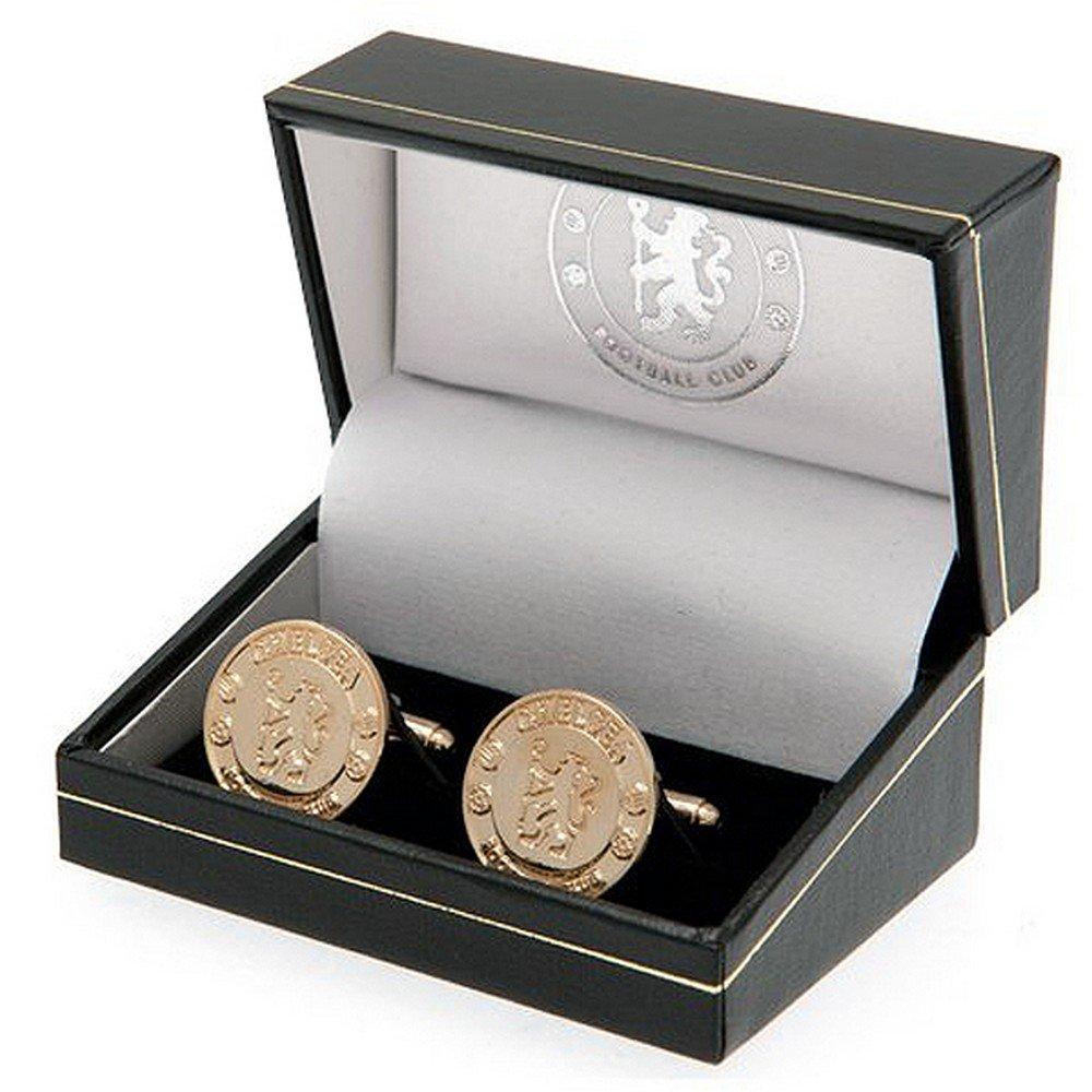 Chelsea F.C. Men's Gold Plated Cufflinks Official Merchandise 127359