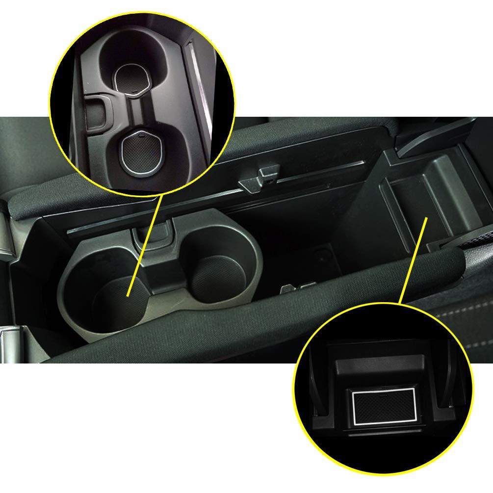 RED 4350408059 ROCCS 15PCS Cup Holder Mats Non Slip Door Liner Gate Slot Pad Mats Customer Fit Interior Compartment Decoration for 2016 2017 2018 Honda Civic Models