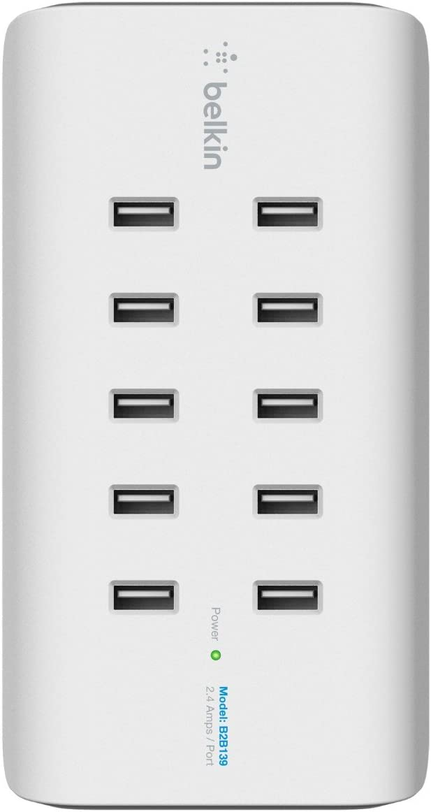 Belkin Rockstar 10 Port Usb A Ladegerät Weiß Computer Zubehör