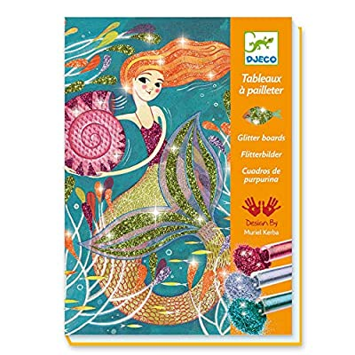 DJECO Glitter Boards - Mermaids: Toys & Games