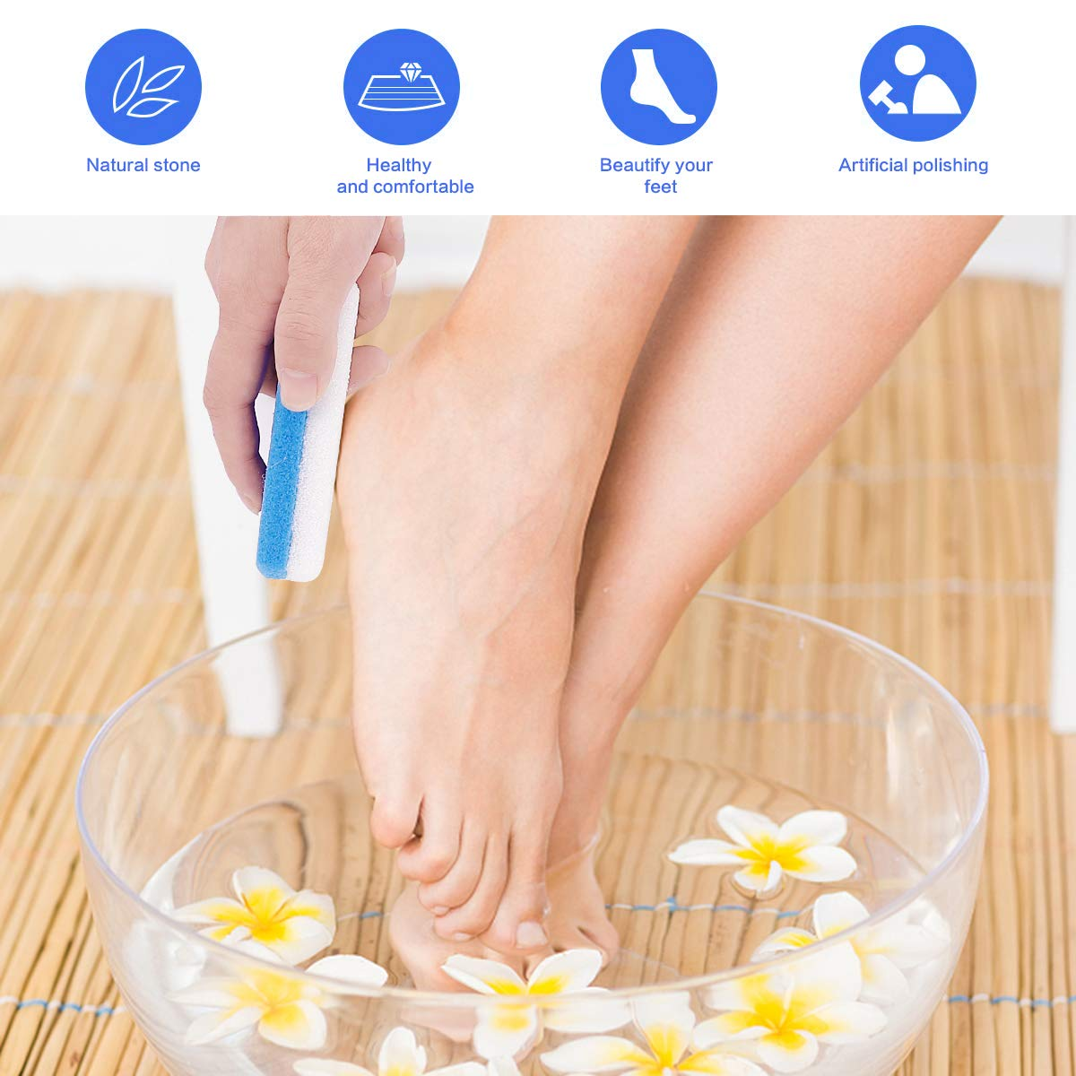 Codream Callus Removers for Feet, 2 in 1 Pumice Stone, Pedicure Stone Scrubber for Smooth Feet, Hands and Body, Foot scrubber & Pedicure Exfoliator Tool (Pack of 4): Beauty