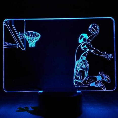 Luz De Noche Jugador De Baloncesto Lámpara De Mesa Dormitorio ...