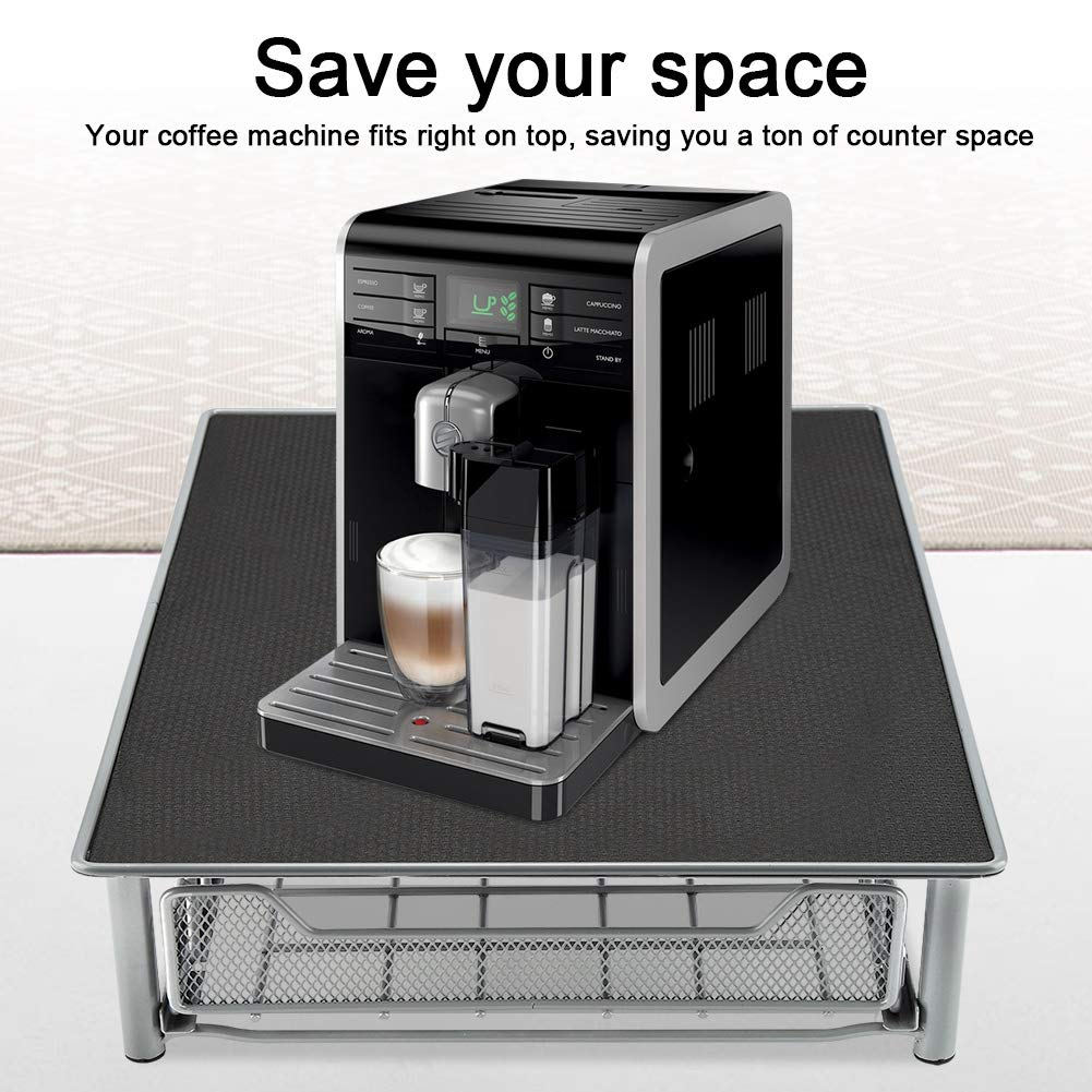 Coffee Pod Holder, Mesh Drawer Coffee Capsule Display Stand Heat Resistant for Home and Office, Holds 60 Coffee Pods by Asixx (Image #3)