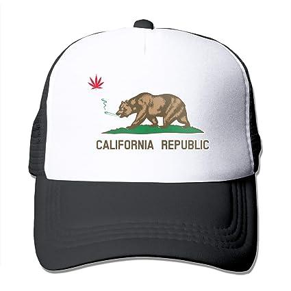 e3f6e817d150 LETI LISW Cute Marijuana California Flag Unisex Mesh Hat Adjustable  Baseball Cap
